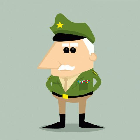 Вышел старый генерал напенсию…