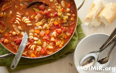 Рецепты Тосканы. Овощной суп…