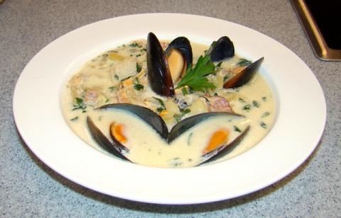 Французский суп из мидий