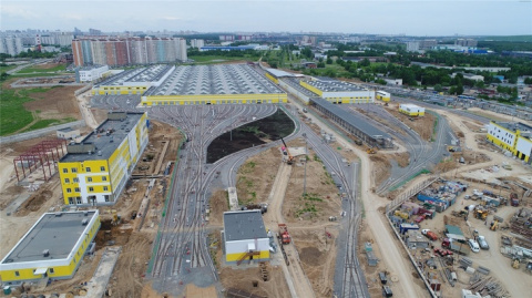 Строительство депо «Солнцево» в Москве
