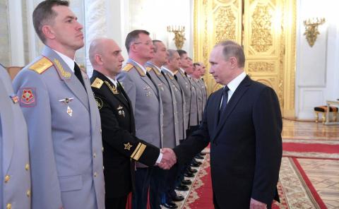Церемония представления офицеров, назначенных на высшие командные должности