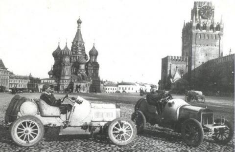 Первые знаки дорожного движения в Москве