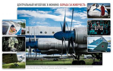 Про волонтёров монинского авиамузея ВВС
