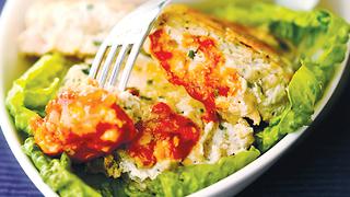 Рыбные котлеты с соусом из п…