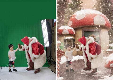 Самые трогательные рождественские фотографии: маленькие пациенты перенеслись из больничных палат в зимнюю сказку