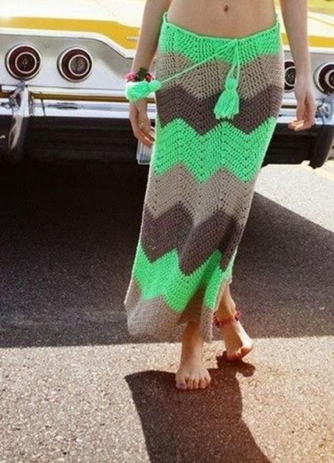 Вязаная юбка: как создать ст…