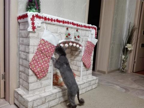 Рождественский камин своими руками! Мастер класс!