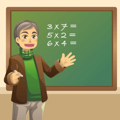 Идёт урок математики. Молодо…