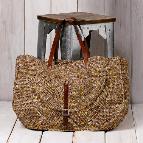 Практичная сумка крючком