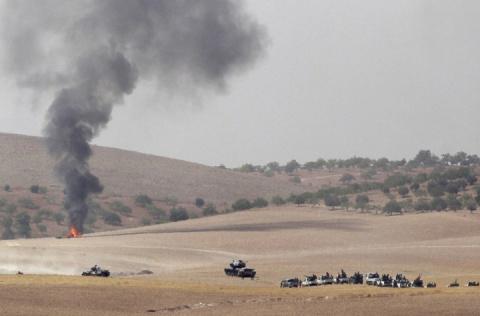 Атака турецкой армии на ИГИЛ…