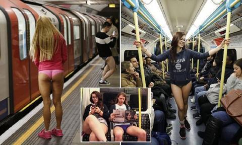 В метро - без штанов! По миру прокатился праздник эксгибиционизма
