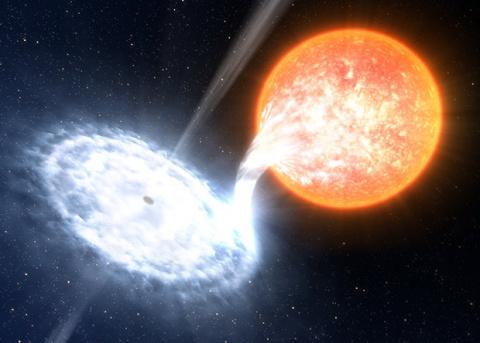 Астрономы заглянули в «колыбель» джета вблизи черной дыры