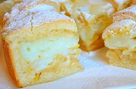 Яблочный пирог с нежнейшим з…