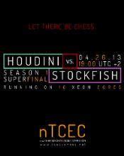финальный матч неофициального чемпионата мира среди движков nTCEC между Houdini (автор Robert Houdart) и Stockfish