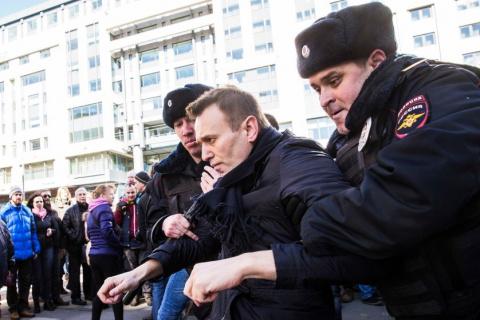 Акции протеста против коррупции в городах России