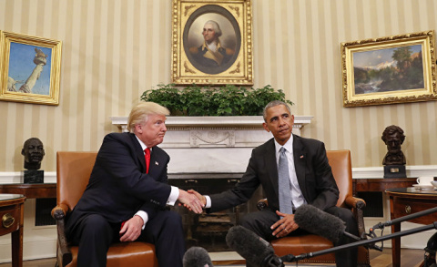 Обама вежливо просит Трампа …