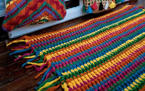 Простой полосатый коврик для начинающих