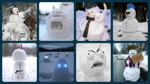 Веселые и креативные снеговики
