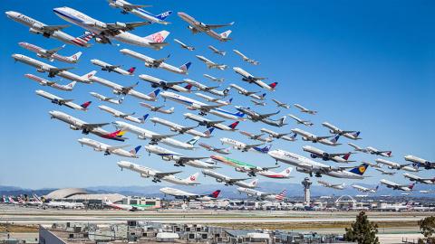 Стаи железных птиц: как выглядят транспортные потоки в аэропортах мира