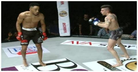 До чего доводят понты: боец MMA поплатился челюстью за танец на ринге
