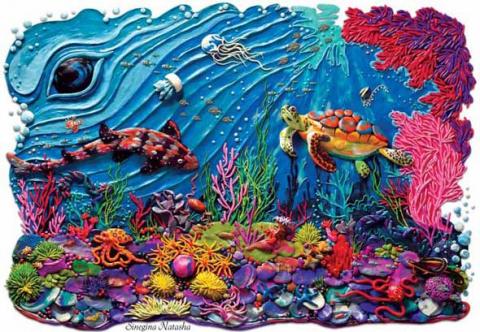 Невероятные картины из пластилина Синегиной Натальи