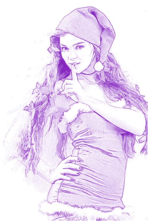 Фоторисовалка Снегурки Милашки