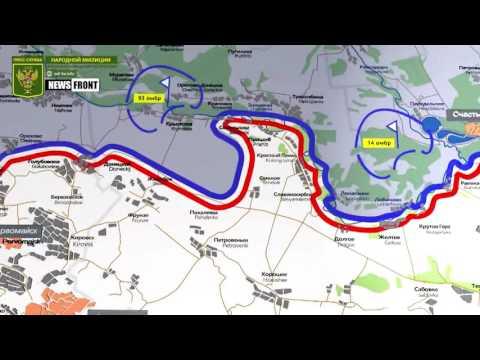 ЛНР: карта обстрелов со стороны ВСУ. 26 июня 2017