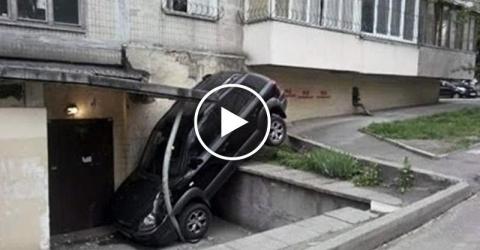 Что вытворяют девушки за рулем. Парковка — уровень бог