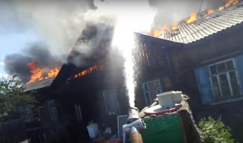 Экшен-видео от пожарного из Читы