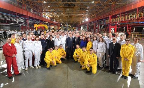Владимир Путин посетил с рабочей поездкой Челябинскую область -/- НОВОСТИ НЕДЕЛИ