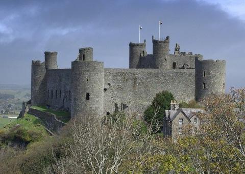Замок Харлех, Уэльс, Великобритания (Harlech Castle)