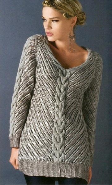 Длинный пуловер и Пуловер аж…