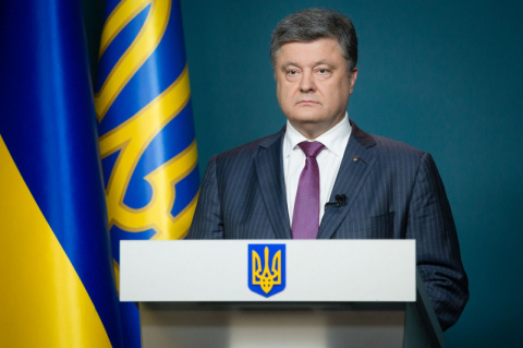 Порошенко поставил задачу поднять украинский флаг над Донбассом и Крымом