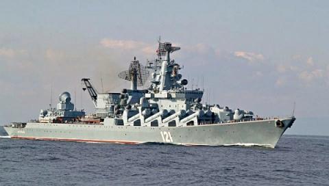 Крейсер «Москва» отремонтиру…