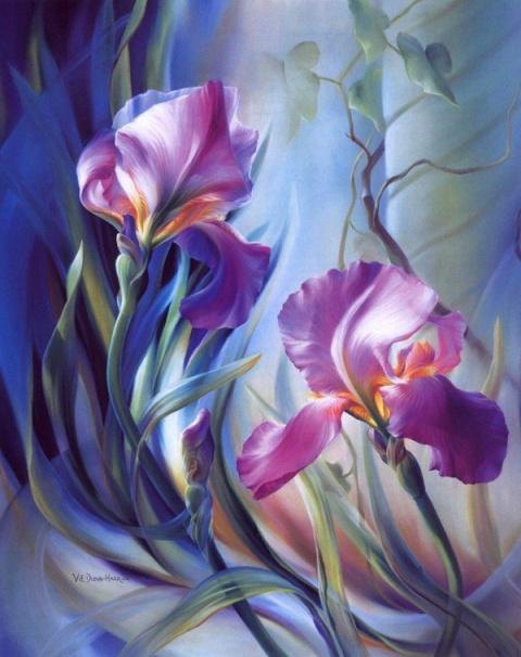 Цветы американской художницы Vie Dunn-Harr