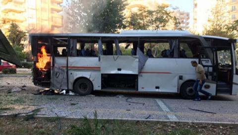 Взрыв автобуса вТурции: пос…