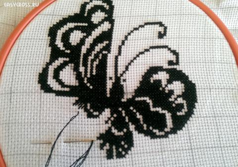 Как сделать схему для монохромной вышивки крестом
