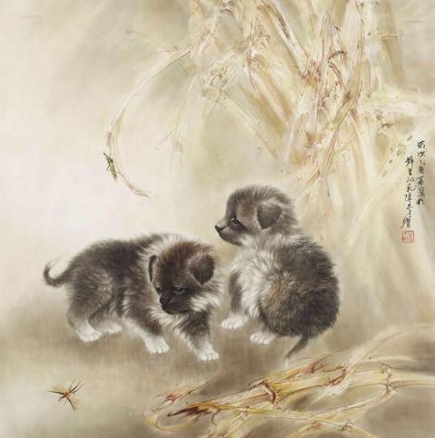 Собаки в китайской живописи