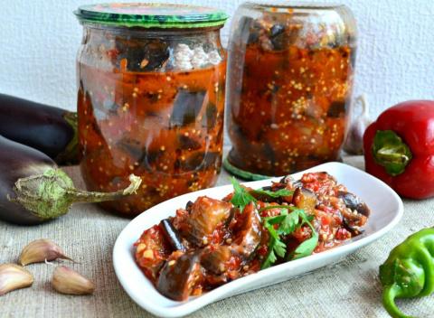 Баклажаны на зиму (три рецепта) Салаты из огурцов на зиму