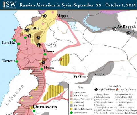 Год после вхождения в Сирию