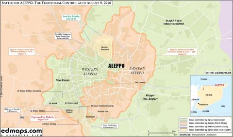 Военная обстановка под Алеппо. 10.08.2016
