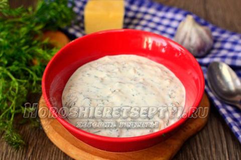 Сметанный соус рецепт с сыром
