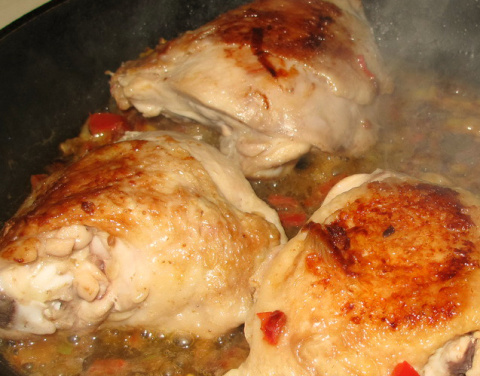 Сенегальская ясса - маринованная курица с рисом кулинарный пятничный Авось!!