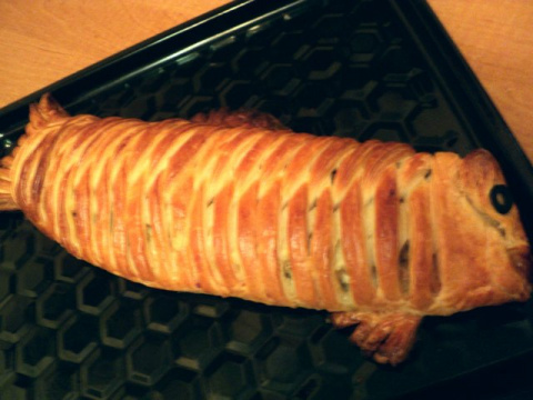 Пирог с рыбой «Золотая рыбка». Рецепт Людмилы Головченко