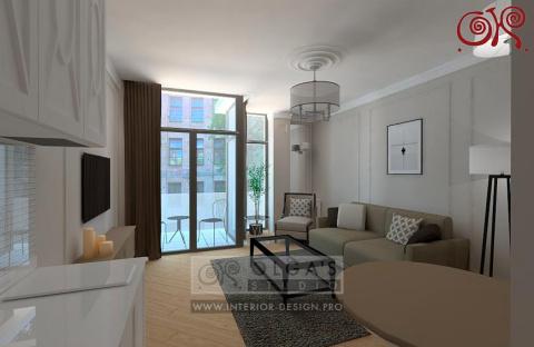 Дизайн однокомнатной квартир…
