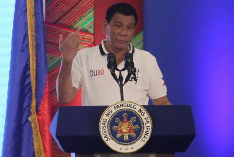 Президент Филиппин Дутерте ж…