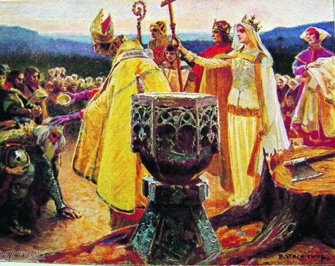 Литва - крещение последних язычников Европы (1387 г.)