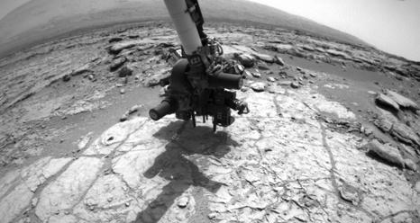 Марсоход curiosity впервые опробовал свой