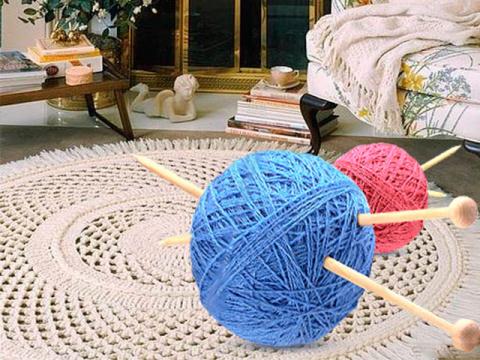 Вяжем красивые коврики