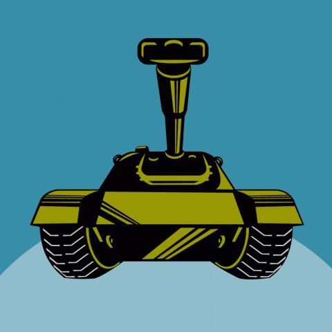 Рассказывает прапорщик солдатам про новый танк…